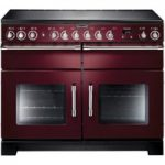 RANGEMASTER Excel 110 Electric Ceramic Range Cooker – Cranberry & Chrome, Cranberry