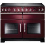 RANGEMASTER Excel 110 Electric Induction Range Cooker – Cranberry & Chrome, Cranberry