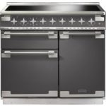 RANGEMASTER Elise 100 Electric Induction Range Cooker – Slate & Chrome