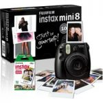 FUJIFILM Instax Mini 8 Instant Camera & 10 Shot Bundle – Black, Black