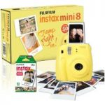FUJIFILM Instax Mini 8 Instant Camera & 10 Shot Bundle – Yellow, Yellow