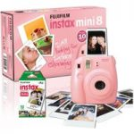 FUJIFILM Instax Mini 8 Instant Camera & 10 Shot Bundle – Pink, Pink
