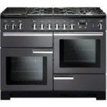 RANGEMASTER Professional Deluxe 110 Dual Fuel Range Cooker – Slate & Chrome