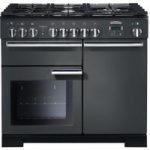RANGEMASTER Professional Deluxe 100 Dual Fuel Range Cooker – Slate & Chrome
