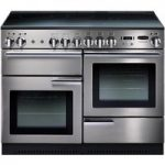 RANGEMASTER Professional 110 Electric Range Cooker – Stainless Steel & Chrome, Stainless Steel