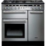 RANGEMASTER Hi-LITE 90 Dual Fuel Range Cooker – Stainless Steel & Chrome, Stainless Steel