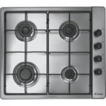 CANDY CLG64SPX Gas Hob – Stainless Steel, Stainless Steel