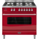 BRITANNIA RC9SGDERED Delphi 90 Dual Fuel Range Cooker – Red, Red