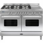 BRITANNIA Delphi 120 RC12TGDES Dual Fuel Range Cooker – Stainless Steel, Stainless Steel