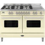 BRITANNIA Delphi 120 RC12TGDECR Dual Fuel Range Cooker – Gloss Cream, Cream