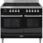 BRITANNIA Delphi 100 Twin Electric Induction Range Cooker – Gloss Black & Stainless Steel, Stainless Steel