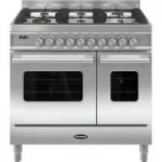 BRITANNIA Delphi 90 RC9TGDES Duel Fuel Range Cooker – Stainless steel, Stainless Steel
