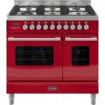 BRITANNIA Delphi 90 RC9TGDERED Duel Fuel Range Cooker – Red, Red