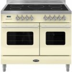BRITANNIA Delphi 100 Twin Electric Induction Range Cooker – Gloss Cream & Stainless Steel, Stainless Steel