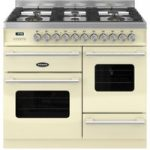 BRITANNIA Delphi 100 XG RC10XGGDECR Dual Fuel Range Cooker – Gloss Cream & Stainless Steel, Stainless Steel