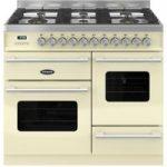 BRITANNIA Delphi 100 XG RC10XGGDECR Dual Fuel Range Cooker – Gloss Cream & Stainless Steel, Stainless Steel