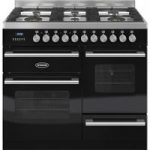 BRITANNIA Delphi 100 XG Dual Fuel Range Cooker – Gloss Black & Stainless Steel, Stainless Steel