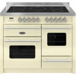 BRITANNIA Delphi 110 XG Electric Induction Range Cooker – Gloss Cream & Stainless Steel, Stainless Steel