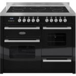 BRITANNIA Delphi 110 RC11XGIDEK Electric Induction Range Cooker – Gloss Black & Stainless Steel, Stainless Steel