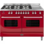 BRITANNIA Delphi 120 Dual Fuel Range Cooker – Gloss Red, Red