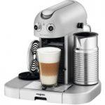 NESPRESSO 11335 Nespresso GranMaestria Coffee Machine & Aeroccino – Silver, Silver