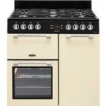LEISURE Cookmaster CK90G232C Gas Range Cooker – Cream, Cream