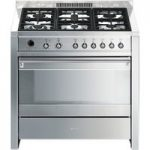SMEG Opera 90 Dual Fuel Range Cooker – Stainless Steel, Stainless Steel