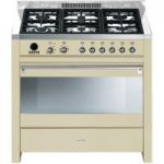 SMEG Opera 90 Dual Fuel Range Cooker – Cream & Stainless Steel, Stainless Steel