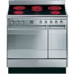 SMEG Concert 90 Electric Ceramic Range Cooker – Stainless Steel, Stainless Steel