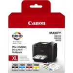 CANON Canon PGI-2500XL Black, Cyan, Magenta & Yellow Ink Cartridges – Multipack, Black