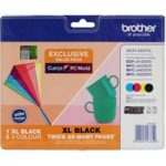 BROTHER LC223/LC227XL Tri-colour & Black Ink Cartridges – Multipack, Black