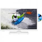 24″ JVC LT-24C656 Smart LED TV with Built-in DVD Player – White, White