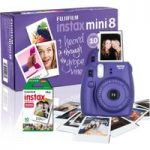 FUJIFILM Instax Mini 8 Instant Camera & 10 Shot Bundle – Grape, Grape