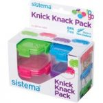 SISTEMA 21127 Knick Knack Square 62 ml Boxes – Pack of 4