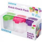 SISTEMA Knick Knack Square 138 ml Boxes – Pack of Three
