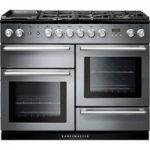 RANGEMASTER Nexus 110 Dual Fuel Range Cooker – Stainless Steel & Chrome, Stainless Steel