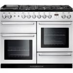 RANGEMASTER Nexus 110 Dual Fuel Range Cooker – White & Chrome, White