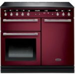 RANGEMASTER Hi-LITE 100 Electric Induction Range Cooker – Cranberry & Chrome, Cranberry