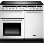 RANGEMASTER Hi-LITE 100 Electric Induction Range Cooker – White & Chrome, White