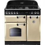 RANGEMASTER Classic 90 Dual Fuel Range Cooker – Cream & Chrome, Cream