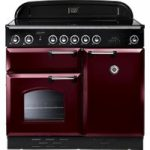 RANGEMASTER Classic 100 Electric Induction Range Cooker – Cranberry & Chrome, Cranberry