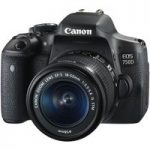 CANON EOS 750D DSLR Camera with EF-S 18-55 mm f/3.5-5.6 IS STM Zoom Lens, Black