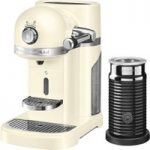 NESPRESSO Artisan Nespresso Hot Drinks Machine with Aeroccino 3 – Almond Cream, Cream