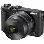 NIKON 1 J5 Compact System Camera with NIKKOR 10-30 mm f/3.5-5.6 VR Zoom Lens – Black, Black