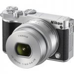 NIKON 1 J5 Compact System Camera with NIKKOR 10-30 mm f/3.5-5.6 VR Zoom Lens – Silver, Silver