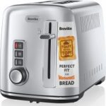 BREVILLE The Perfect Fit for Warburtons VTT570 2-Slice Toaster – Stainless Steel, Stainless Steel