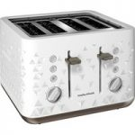 MORPHY RICHARDS Prism 248102 4-Slice Toaster – White, White