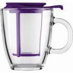 BODUM Yo Yo Mug & Tea Strainer Set – Purple, Purple