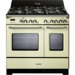 KENWOOD CK425-CR 90 cm Dual Fuel Range Cooker – Cream, Cream