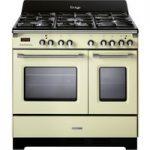 KENWOOD CK425-CR 90 cm Dual Fuel Range Cooker – Cream, Cream